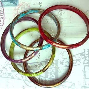 Set of colored bangles